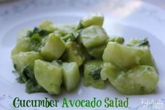 I make this all the time!! How funny now it's on PINTREST cucumber avocado salad recipe