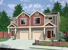 What Is a Row House | House Plans, Duplex Plans, Row Home Plans