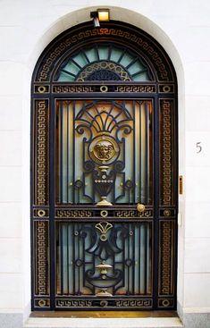 Cool Doors, Unique Doors, Iron Gate Design, Wrought Iron Doors, Steel Doors, Entrance Doors, Windows And Doors, Glass Door, Planer