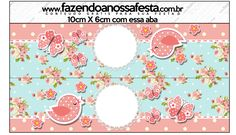 Saquinhos de Balas Jardim Encantado Vintage Floral - Kit Completo com molduras para convites, rótulos para guloseimas, lembrancinhas e imagens!