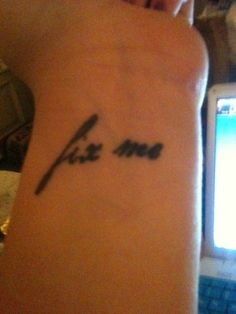 Marianas Trench Fix Me tattoo