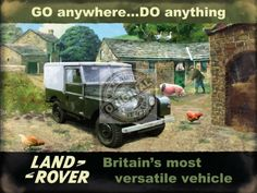 Large Metal wall sign Land Rover series 1 go anywhere do anything