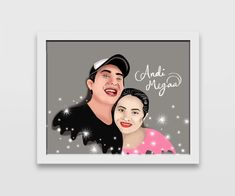 Happy Couple in Digital painting