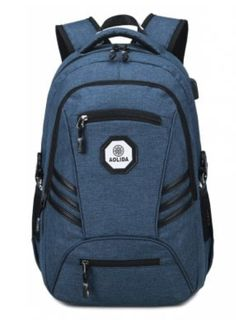 Fashion PVC Waterproof Backpack with Usb Charging Port Travel Bag $40.59