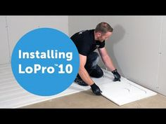Installing Nu-Heat's LoPro™10 underfloor heating - YouTube