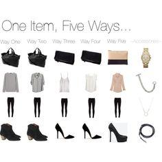 One Item, Five Ways... Black Skinny Jeans