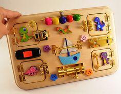 Busy board Toddler Activity board Travel busy board Montessori