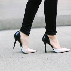 ZARA Combined Leather High Heel Shoe