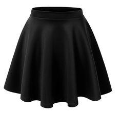 Basic Versatile Stretchy Flared Skater Skirt