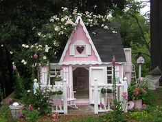 A pink playhouse.