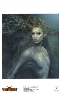 Mermaid concept art : Pirates of the Caribbean: On Stranger Tides