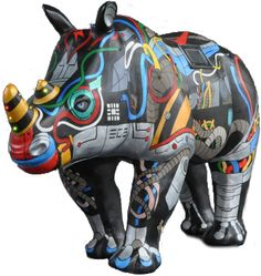 Erica The Rhino | A Cyber Rhino Created by the University of Southampton's Electronics and Computer Science Team