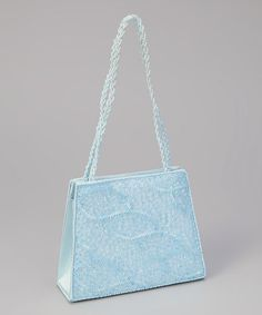 Look at this  zulilyfind! Sweet Pattis Light Blue Beaded Leaf Purse by  Sweet Pattis 076bed2e5eb3a