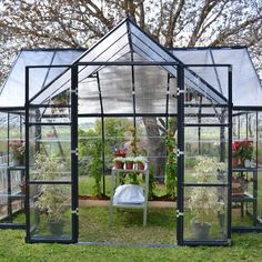 Palram Chalet Twin Wall 12 Ft. W x 10 Ft. D Polycarbonate Greenhouse