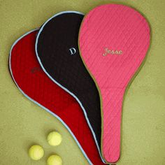 Monogrammed Tennis Racket Cover $45.00