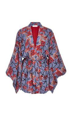 7cd1965aaef1 Floral Silk Kimono by Fleur du Mal Silk Kimono