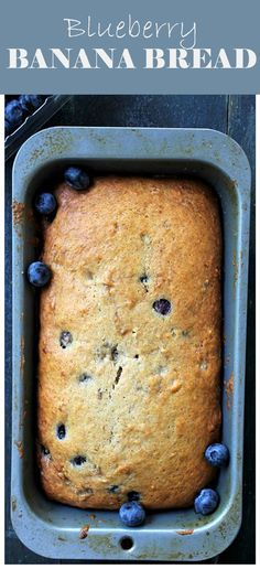Blueberry Banana Bread ~ It is AMAZING! It melts in your mouth and it's full of delicious flavors. Get the recipe on diethood.com