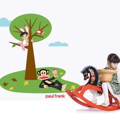 Kids love to go on a picnic! use this Julius the monkey in a picnic vinyl wall sticker to decorate your kids' rooms. This vinyl wall sticker features Julius from Paul Frank wall art collection. Wall decals are a cost effective alternative to traditional wall decorations.Sale Price: $69.95