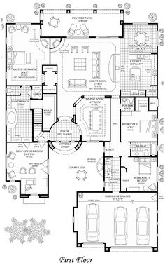 Plan 66022WE Tuscan Style Mansion Luxury floor plans Mansions