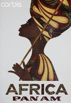 Africa Pan Am Poster by Sidney Smith - 42-21444892 - Rights Managed - Stock Photo - Corbis