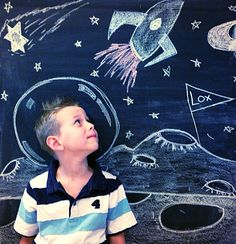 Chalk board photography kids fun outdoor craft