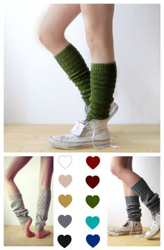 Leg warmers in Green / Boot cuff / green boot socks / Urban clothing / Knit leg warmers / lace legwear / yoga lover / CHOOSE YOUR COLOR! by KnittingMamas on Etsy https://www.etsy.com/listing/220185567/leg-warmers-in-green-boot-cuff-green