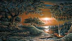"""""""Puppy Love"""" by Terry Redlin 