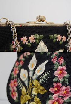 vintage purse / vintage 1950s bag / vintage by adoredvintage