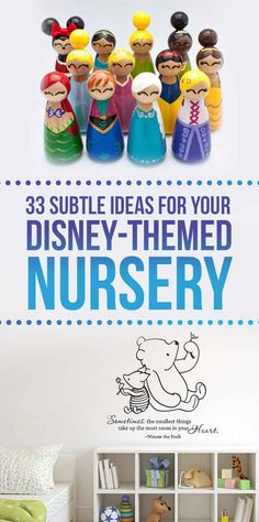 33 Perfectly Subtle Ideas For Your Disney-Themed Nursery- great ideas for older kids too, or anyone who lives Disney!