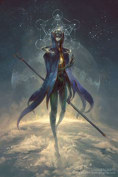Eistibus, Angel of Divination by PeteMohrbacher on @DeviantArt