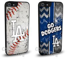 Los Angeles LA Dodgers Cell Phone Hard Case TWO PACK for iPhone 6, iPhone 6 Plus, iPhone 5/5s, iPhone 4/4s or iPhone 5c
