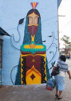 Sensações de positividade, o surrealismo e as artes indígenas (e não só) servem de inspirações para os grafites do artista brasileiro Binho Martins. // Feelings of positivity, surrealism and indigenous arts (and not only) serve as inspirations for graffiti brazilian artist Binho Martins.