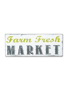 farm fresh market sign by barn owl primitives