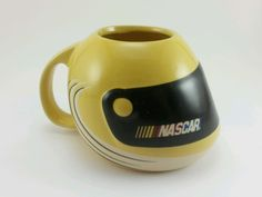 NASCAR helmet coffee mug.  YELLOW and BLACK 2004 collectible