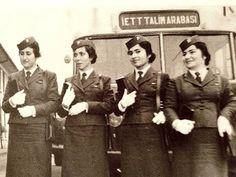 1960... İETT' nin kadın bilet memurları...