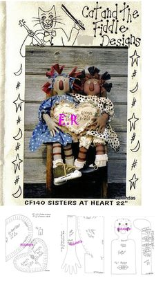 SISTERS AT HEART RAGGEDY PATTERN