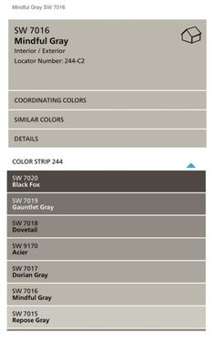 tips for choosing whole home paint color scheme - Grey Paint Sherwin Williams
