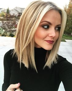 Frauen Frisuren 2019 - Stylish and Sweet Lob Haircut, Long Bob Hairstyle , Everyday Hair Styles for Wom. Long Bob Haircuts, Trendy Haircuts, Short Bob Hairstyles, Wedding Hairstyles, Ladies Hairstyles, Modern Haircuts, Vintage Hairstyles, Blonde Hair Styles Medium Length, Medium Blonde Hairstyles