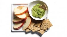 Snack 12 Kashi TLC 7 Grain crackers 1 Wholly Guacamole 100 Calorie Snack Pack cup sliced apples Monounsaturated fats in avocado help burn belly fat. 100 Calorie Snacks, Diet Snacks, Calorie Diet, Healthy Snacks, Healthy Eating, Healthy Recipes, Wholly Guacamole, Ab Diet, Burn Belly Fat Fast