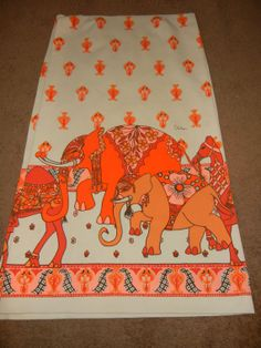 60s Alfred Shaheen Elephant camel print fabric by thepaisleybird, $22.00