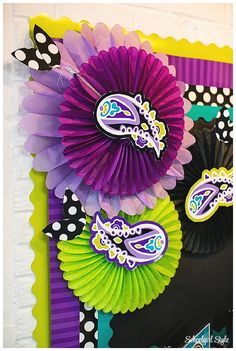 Midnight Orchid by Schoolgirl Style! www.schoolgirlstyle.com purple, teal, turquoise, lime green