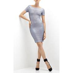 Herve Leger Carmen Woodgrain Foil Bandage Dress HLC694 being unfaithful limited offer,no taxes and free shipping.#dress #dresses #womenfashion #herveleger #hervelegerdresses