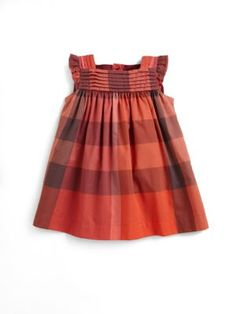 Burberry - Infant's Pleat-Trimmed Check Dress