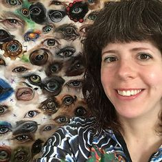 I've started an awesome challenge! To paint 100 eyes in 100 days in wool. I'm a portrait artist and painter with wool using needle-felting techniques. I use specialist barbed needles to stab wool into flat felt in a painterly way.