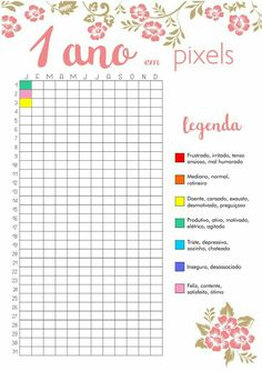 1 ano em pixels 1 year in pixels, amazing idea! Bullet Journal School, Bullet Journal Agenda, Bullet Journal Tracker, Bullet Journal Inspiration, Bullet Journal Diy, To Do Planner, Agenda Planner, Diy Agenda, Student Planner