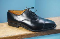 Men's Allen Edmonds Park Avenue 11 EEE 3E Wide Black Leather Cap Toe Dress Shoes #AllenEdmonds #Oxfords