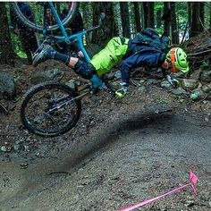 That's probably what will happen to me the next time I go mountain biking, falling happens to everybody and is part of getting better. #mtb