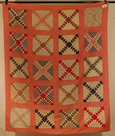 "Wild Goose Chase Quilt - 61"" x 72"", Blanchard's Auction Service"