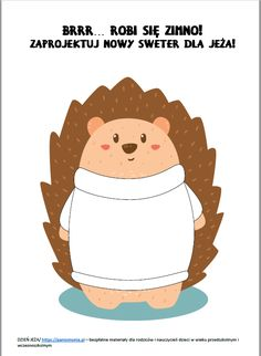 Dzień Jeża w przedszkolu - materiały i inspiracje - Pani Monia Origami, Crafts For Kids, Teddy Bear, Toys, Animals, Speech Language Therapy, Crafts For Children, Activity Toys, Animales
