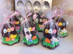 Chocolate cut out cookies, mini cut out cookies, royal icing & mini cadbury eggs